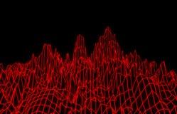 Abstracte rode netwerkbergen Royalty-vrije Stock Fotografie