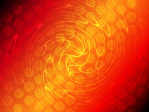 Abstracte rode oranje gradiëntcirkel en de gloeiende achtergrond van de draailijn Royalty-vrije Stock Fotografie