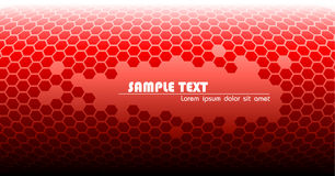 Abstracte rode technische achtergrond Royalty-vrije Stock Fotografie