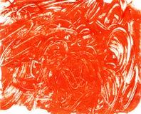 Het rood kraste vlek. Stock Foto's