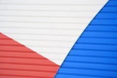 Abstracte Rode Wit en Blauw Stock Afbeeldingen
