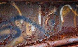 Abstracte roest als achtergrond, pellende verf & grafetti Royalty-vrije Stock Afbeelding