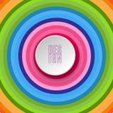 Abstracte ronde banner met het element van het tekstontwerp op heldere kleurrijke achtergrond van wervelende lijnen van cirkelsel vector illustratie