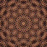 Abstracte Ronde Mandala in Warme Bruine kleuren - vierkante achtergrond Stock Fotografie