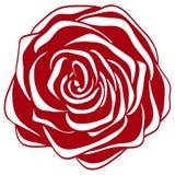 Abstracte rood en wit nam toe. Royalty-vrije Stock Foto's