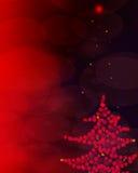 Abstracte rood fonkelde Kerstmisachtergrond Stock Afbeeldingen
