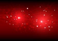 Abstracte rood licht futuristische vorm als achtergrond geproduceerde abstra royalty-vrije illustratie