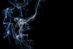 Abstracte rook op een zwarte achtergrond Stock Fotografie