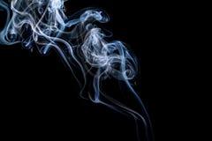 Abstracte rook op een zwarte achtergrond Royalty-vrije Stock Foto