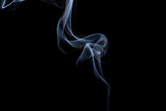 Abstracte rook op een zwarte achtergrond Stock Afbeeldingen