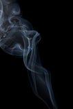Abstracte rook op een zwarte achtergrond Stock Afbeelding