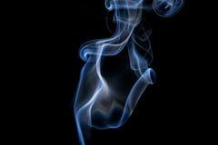 Abstracte rook op een zwarte achtergrond Stock Foto