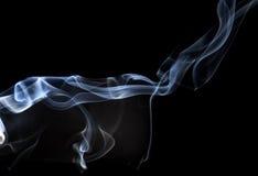Abstracte rook op een zwarte achtergrond Royalty-vrije Stock Fotografie