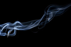 Abstracte rook op een zwarte achtergrond Royalty-vrije Stock Foto's