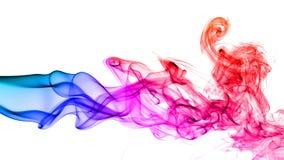 Abstracte rook op witte achtergrond Stock Afbeeldingen