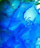 Abstracte rooster blauwe plonsen Royalty-vrije Stock Foto's