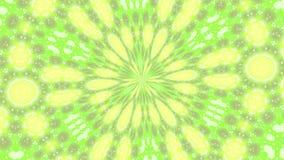 Abstracte roterende achtergrond in Geelgroene tonen stock footage