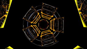 Abstracte roterende stukken in diverse kleuren stock footage