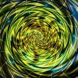 Abstracte roterende wervelende achtergrond van spiralen met stralen Stock Foto