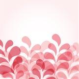 Abstracte roze achtergrond met bloemendalingen Stock Afbeeldingen