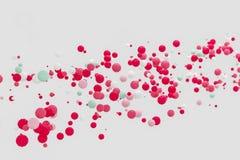 Abstracte roze achtergrond moderne vormobjecten vlotter in de lucht, B Royalty-vrije Stock Afbeeldingen