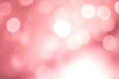 Abstracte roze bokehachtergrond Royalty-vrije Stock Afbeelding