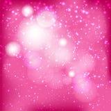 Abstracte roze bokehachtergrond Royalty-vrije Stock Afbeeldingen