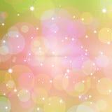 Abstracte roze cirkelachtergrond Royalty-vrije Stock Foto's