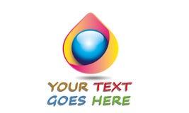 Abstracte Roze Daling Logo Template Royalty-vrije Stock Afbeeldingen