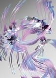 Abstracte roze en blauwe linten Stock Afbeeldingen