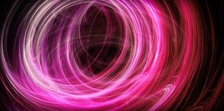 Abstracte roze energiecirkels Royalty-vrije Stock Afbeelding
