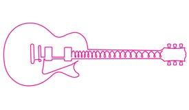 Abstracte roze gitaar Stock Afbeelding