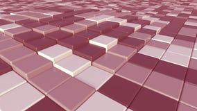 Abstracte roze platenachtergrond, het 3D teruggeven Royalty-vrije Stock Foto's