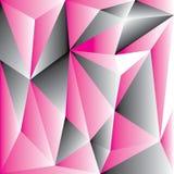 Abstracte roze veelhoek voor achtergrond Stock Afbeelding