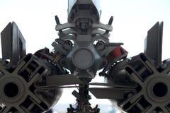 Abstracte rug van bom op F14 straal Stock Fotografie