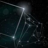 Abstracte ruimteachtergrond Stock Foto's