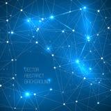 Abstracte ruimtedieachtergrond van driehoeken wordt gemaakt Royalty-vrije Stock Fotografie