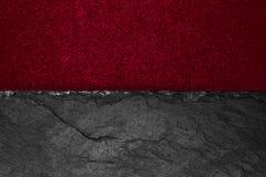 Abstracte samenstelling als achtergrond van verdeeld in het halve matte levendige de kleurendocument van Bourgondië en de zwarte  royalty-vrije stock foto's