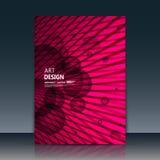 Abstracte samenstelling, de ronde oppervlakte van het tekstkader, het roze a4 blad van de brochuretitel, creatieve het tekenbouw  Royalty-vrije Stock Foto's