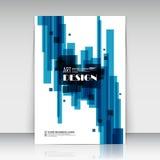 Abstracte samenstelling, de vierkante oppervlakte van het tekstkader, het witte a4 blad van de brochuretitel Royalty-vrije Stock Foto