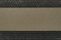 Abstracte samenstelling van beige patroon van golfkarton achtergrondoppervlakte met exemplaarruimte royalty-vrije stock foto