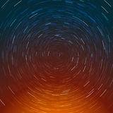 Abstracte samenstelling van de sterrenweg Royalty-vrije Stock Afbeeldingen
