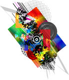 Abstracte Samenstelling van de vlekken Stock Foto