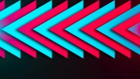 Abstracte samenstelling van heldere pijlen stock illustratie