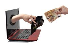 Abstracte samenstelling van online krediet royalty-vrije stock afbeeldingen