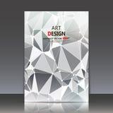 Abstracte samenstelling, veelhoekige bouw, verbindende punten en lijnen, a4 het blad van de brochuretitel, achtergrond, lichte st Stock Afbeelding