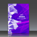 Abstracte samenstelling, veelhoekige bouw, verbindende punten en lijnen, a4 het blad van de brochuretitel, ruimteachtergrond, las Royalty-vrije Stock Fotografie