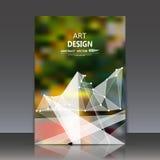 Abstracte samenstelling, veelhoekige bouw, verbindende punten en lijnen, a4 het blad van de brochuretitel, ruimteachtergrond, lic Stock Foto's