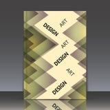 Abstracte samenstelling, veelhoekige ruitbouw Stock Afbeeldingen