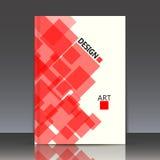 Abstracte samenstelling, veelhoekige ruitbouw, vierkant blok, Royalty-vrije Stock Foto's
